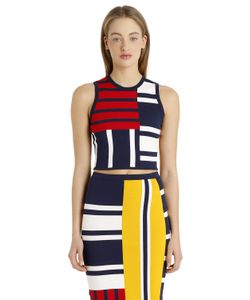 Tommy Hilfiger | Gigi Hadid Patchwork Viscose Knit Top