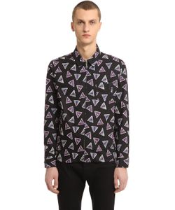 Kenzo | Triangle Print Cotton Shirt With Zip