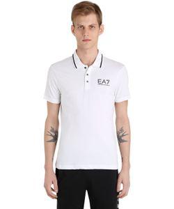 EA7 EMPORIO ARMANI | Рубашка-Поло Из Хлопкового Стретч Джерси