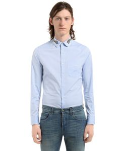 Gucci | Хлопковая Рубашка С Вышивкой Дракон