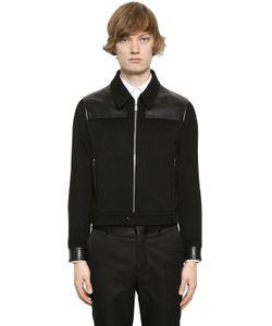 Alexander McQueen | Кашемировая Куртка С Кожаными Деталями