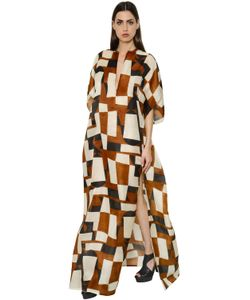 Akris | Printed Organza Caftan Dress