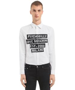 Love Moschino | Рубашка Из Стретч Поплин С Принтом Psychobilly