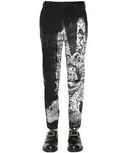 Alexander McQueen | Брюки Из Шерстяной Саржи С Принтом 17cm