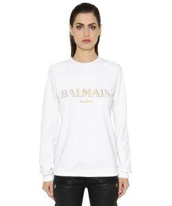 Balmain | Свитшот Из Хлопкового Джерси С Принтом Логотипа