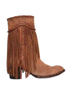 Mexicana | 65mm Printed Fringed Suede Boots