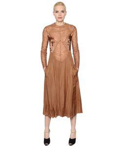 Nina Ricci | Платье Из Кружева Атласа И Кади
