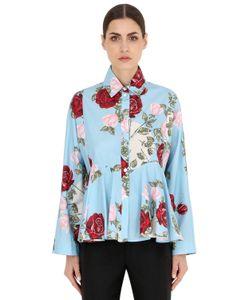 Antonio Marras | Рубашка Из Хлопкового Поплин С Цветочным Принтом
