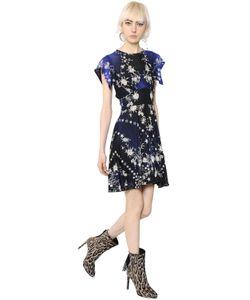 Roberto Cavalli | Платье Из Джерси С Принтом Звёзды И Цветы