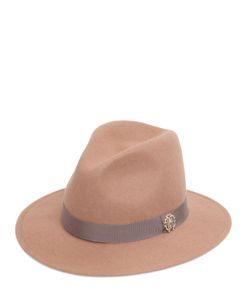 Roberto Cavalli | Шляпа Из Шерстяного Фетра С Логотипом Из Металла