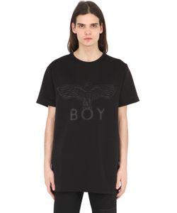 Boy London | Хлопковая Футболка С Нашивкой Из Неопрена