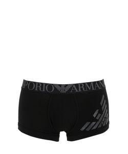 Emporio Armani | Трусы Из Хлопкового Стретч Джерси С Логотипом
