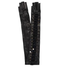 Gucci | Перчатки Из Кожи Наппа На Шнуровке