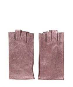 MARIO PORTOLANO | Кожаные Перчатки С Эффектом Металлик