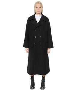 Y'S | Двубортное Шерстяное Пальто