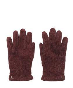 LARUSMIANI | Перчатки Из Кожи Пекари С Кашемировой Подкладкой