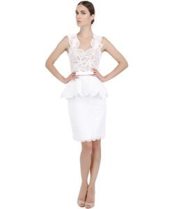 MARTHA MEDEIROS | Платье Из Тюля И Хлопкового Кружева