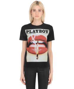 Playboy   Футболка Из Хлопкового Джерси С Принтом