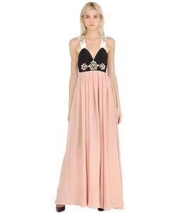 STEFANO DE LELLIS | Платье Из Кади С Вышивкой
