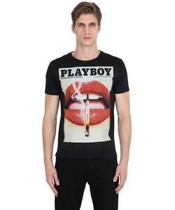 Playboy | Футболка Из Хлопкового Джерси С Принтом