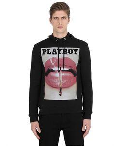 Playboy | Хлопковый Свитшот С Капюшоном И Принтом