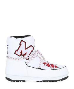 MOON BOOT MSGM | Ботинки Из Нейлона С Вышивкой 30mm