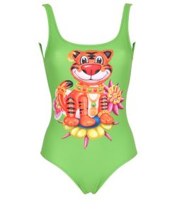 MOSCHINO BEACHWEAR | Tiger Printed Lycra Bathing Suit