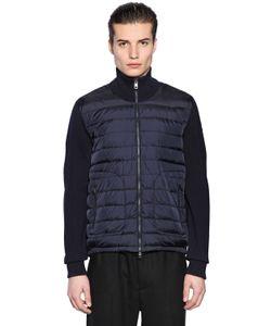Moncler | Куртка Из Нейлона И Шерстяного Трикотажа