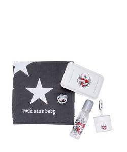 ROCK STAR BABY | Blanket Bottle Pacifier Holders Set