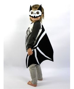 SPARROW & B | Skelly Bat Felt Mask Wings Costume Set