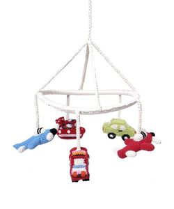 ANNE-CLAIRE PETIT | Hand-Crocheted Crib Mobile With Vehicles