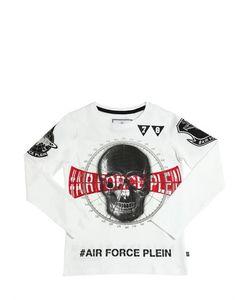 PHILIPP PLEIN JUNIOR   Embellished Cotton Jersey T-Shirt