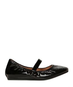LANVIN PETITE | Patent Leather Mary Jane Flats