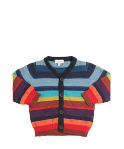 Paul Smith Junior | Striped Cotton Cashmere Cardigan
