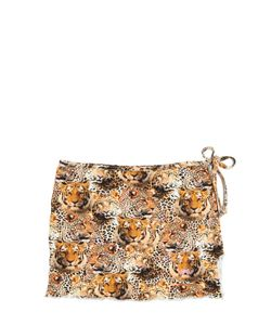 SELINI ACTION | Animalier Printed Stretch Nylon Skirt
