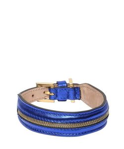 FRIDA FIRENZE | Medium Dog Collar Leash W/ Zip Detail
