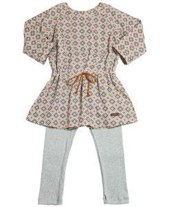 STICKY-FUDGE | Cotton Poplin Dress Knitted Leggings
