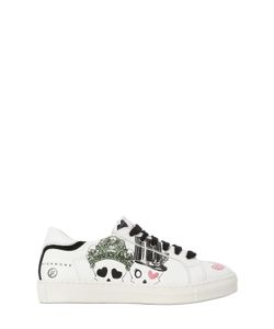 RICHMOND JUNIOR | Printed Leather Sneakers