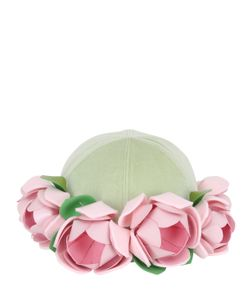 FRANCESCO BALLESTRAZZI | Roses Applique On Baseball Hat
