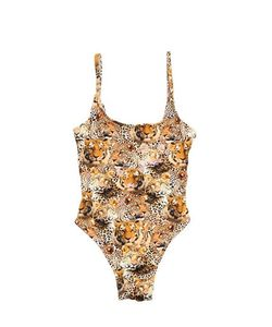 SELINI ACTION | Animalier Printed Stretch Nylon Swimsuit