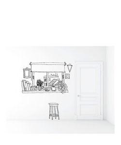 CHISPUM | Coffee Window Xl Wall Sticker