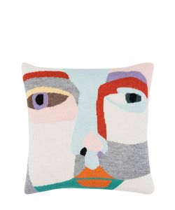 LUCKYBOYSUNDAY | Face It Wool Knit Pillow Case