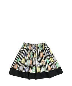 Venera Arapu   Animal Printed Cotton Satin Round Skirt