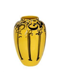 CERAMICA GATTI 1928 | Lvr Yellow Black Ceramic Vase