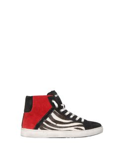 SHAKE! | Suede Ponyskin Leather Sneakers