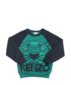 Kenzo Kids | Tiger Printed Cotton Sweatshirt
