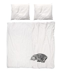 SNURK   Ollie The Cat Cotton Duvet Cover Set