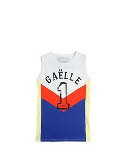 GAELLE PARIS | Cotton Jersey Basketball Jersey Dress