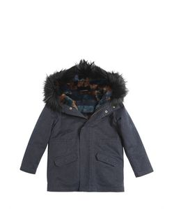 YVES SALOMON ENFANT | Gabardine Cotton Parka W/Fur