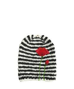 Péro | Flowers Embroidered Wool Knit Hat